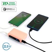 Външна Батерия с Бързо Зареждане, 4SMARTS Power Bank PD-QC3.0 10000 mAh, Розов 1.jpg
