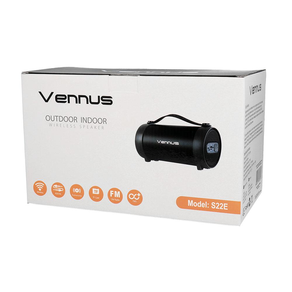 Безжична Колона с Радио, VENNUS TWS S22E, Черен 4.jpg