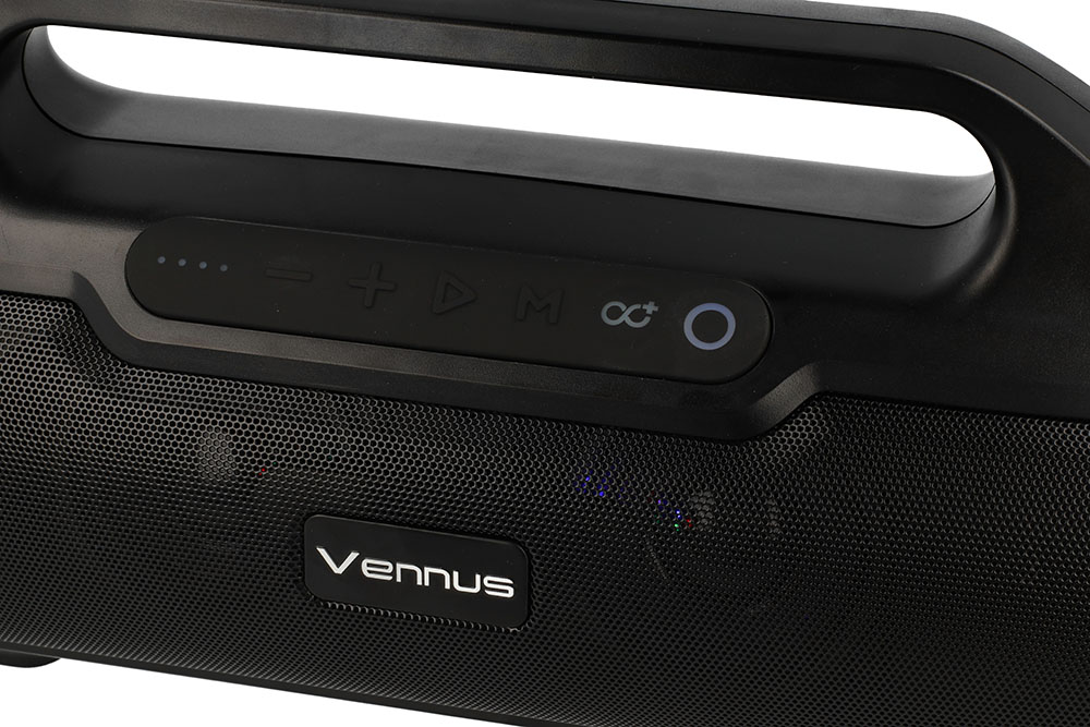 Безжична Стерео Колона с Радио, VENNUS TWS BM02, Черен 3.jpg