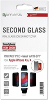 Anti-Spy Стъклен Протектор за iPhone 11 Pro/XS/X, 4SMARTS 3D Privacy Pro Glass, Черен