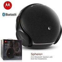 Безжична Колона и Слушалки, MOTOROLA Sphere Plus 2in1 Bluetooth Speaker & Headset, Черен