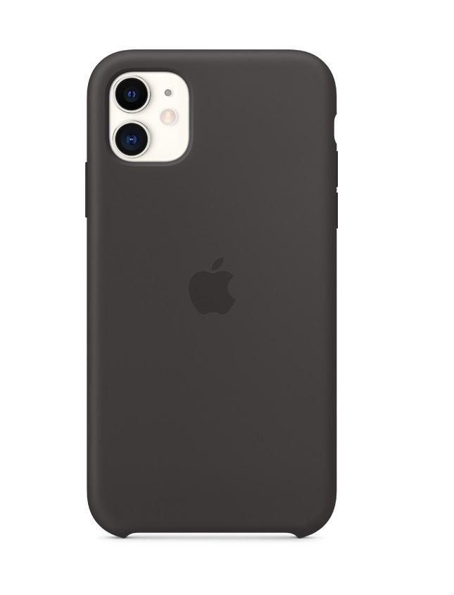 Оригинален Силиконов Калъф за APPLE iPhone 11, Silicone Case MWVU2, Черен