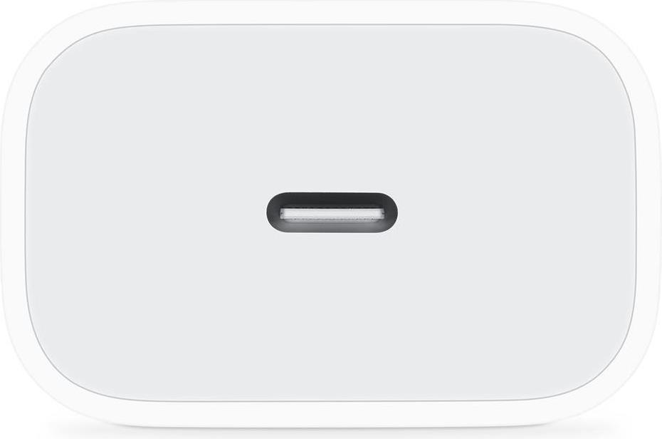 Оригинално Бързо Зарядно за iPhone 12/11 Pro USB-C, APPLE 220v Power Delivery Charger 20w, Бял
