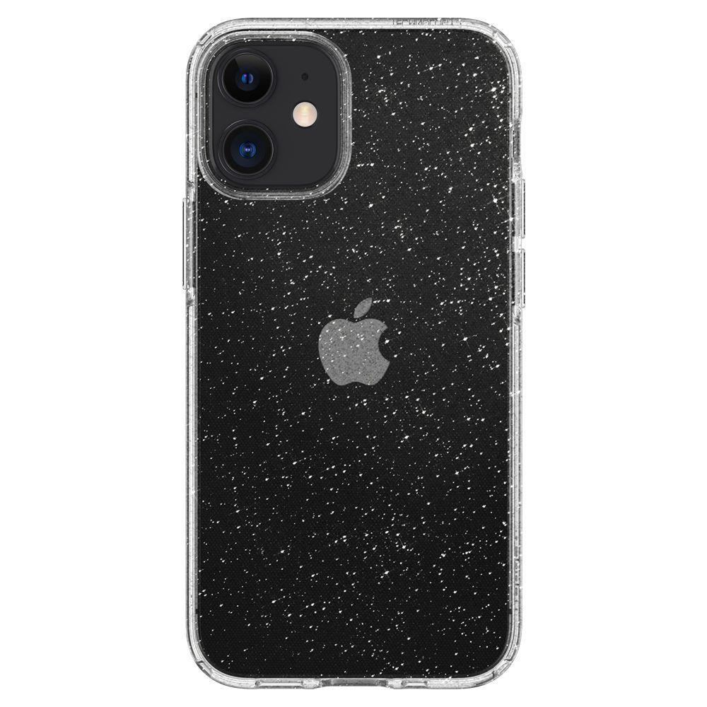 Противоударен Блестящ Калъф за iPhone 12 Mini, SPIGEN Liquid Crystal Glitter Quartz Case, Прозрачен
