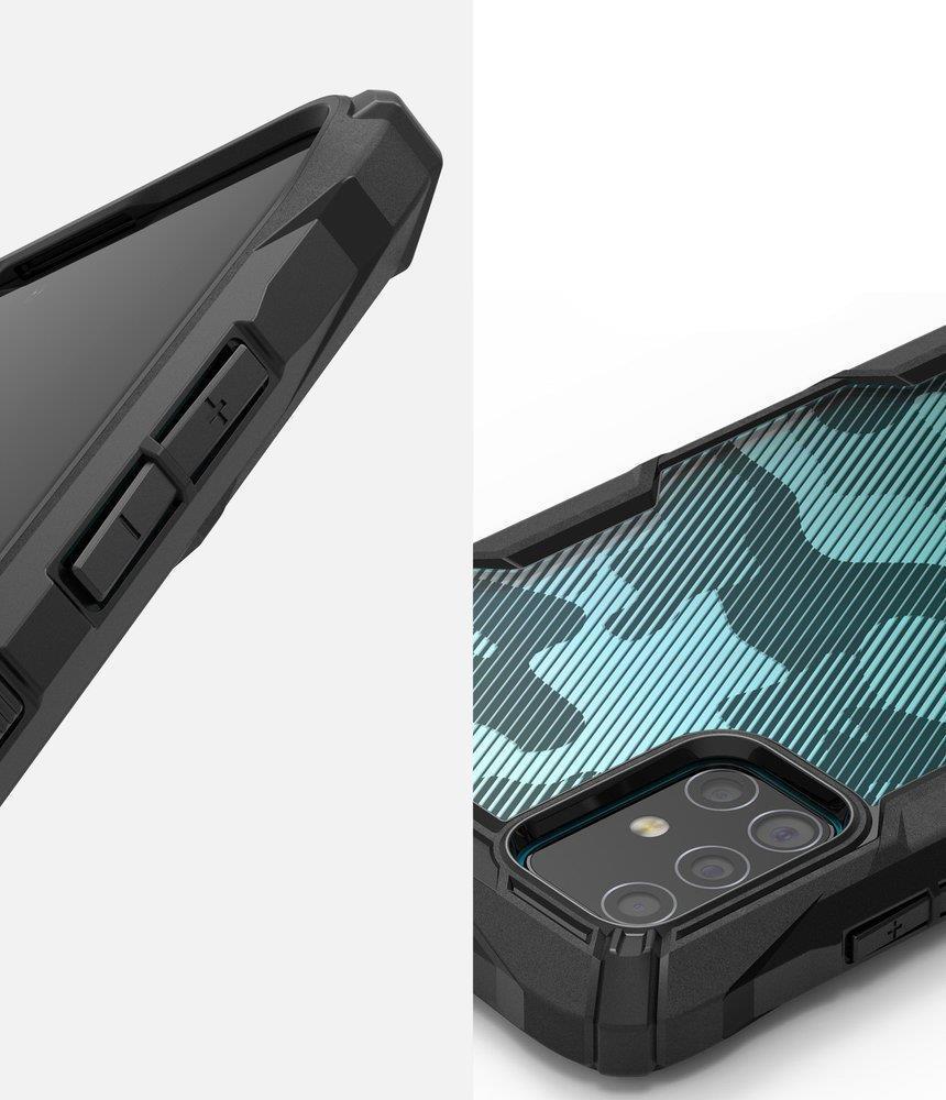 Противоударен Хибриден Калъф за SAMSUNG A71, RINGKE Fusion X Camo, Черен