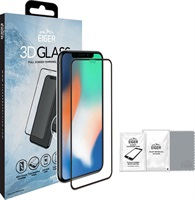 Удароустойчив Протектор за iPhone 11 Pro/XS/X, EIGER 3D Glass, Черен