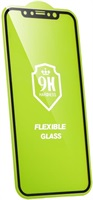 Удароустойчив Протектор за iPhone 12 Pro Max, BESTSUIT Flexible 5D Glass, Черен