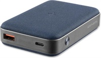 Външна Батерия с Безжично и Бързо Зареждане, 4SMARTS Power Bank PD/QC3.0 10000 mAh, Син