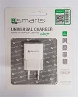 Зарядно за iPhone, 4SMARTS 220v Powerplug 1a, Бял