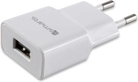 Зарядно за iPhone, 4SMARTS 220v Powerplug 1a New, Бял (Bulk)